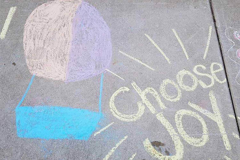 choose joy sidewalk chalk