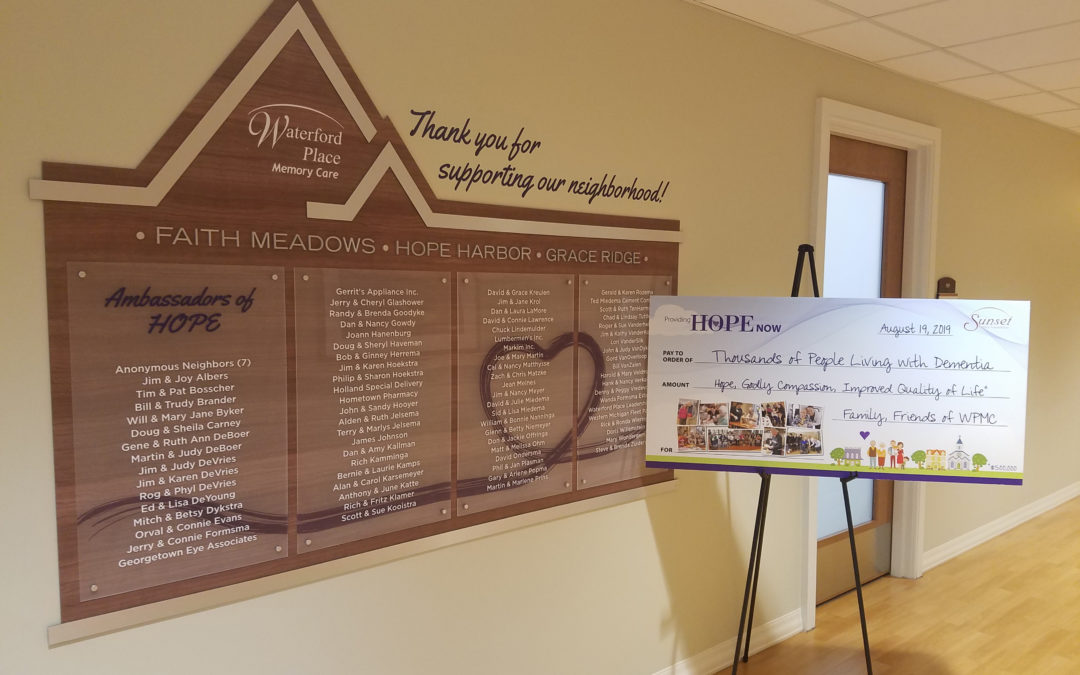 Retirement community announces results of fundraising campaign for memory care