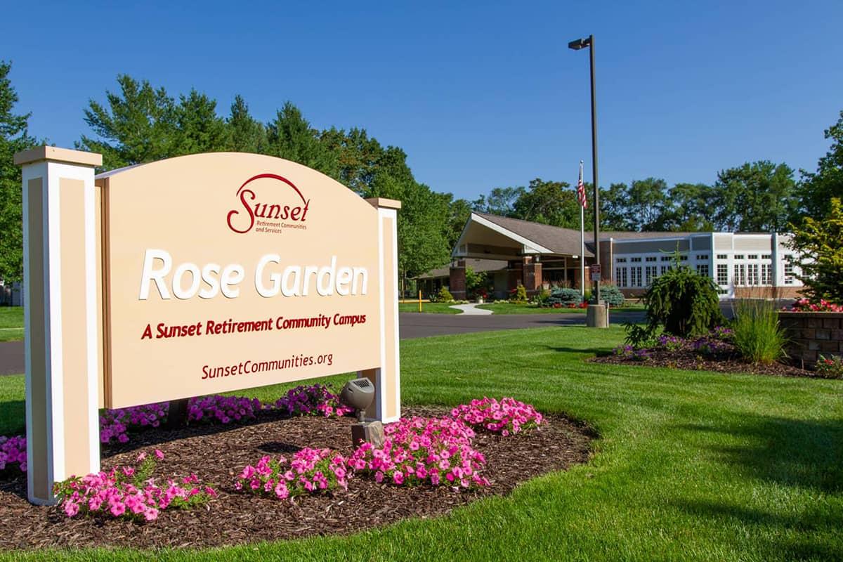 Rose Garden entrance sign