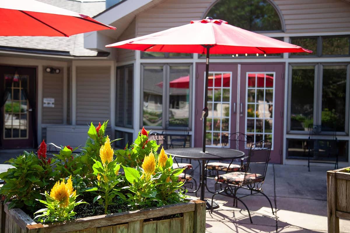 Rose Garden courtyard entrance